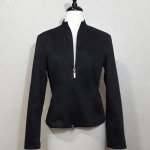 The Limited • Black form fitting zip jacket. Sz. M